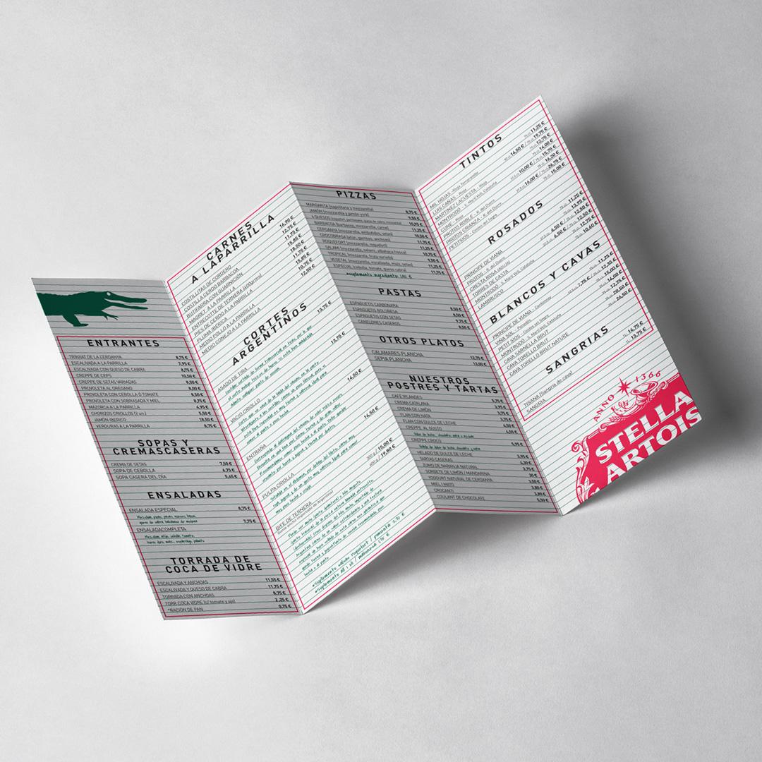 Brochure menu Crocobrasa