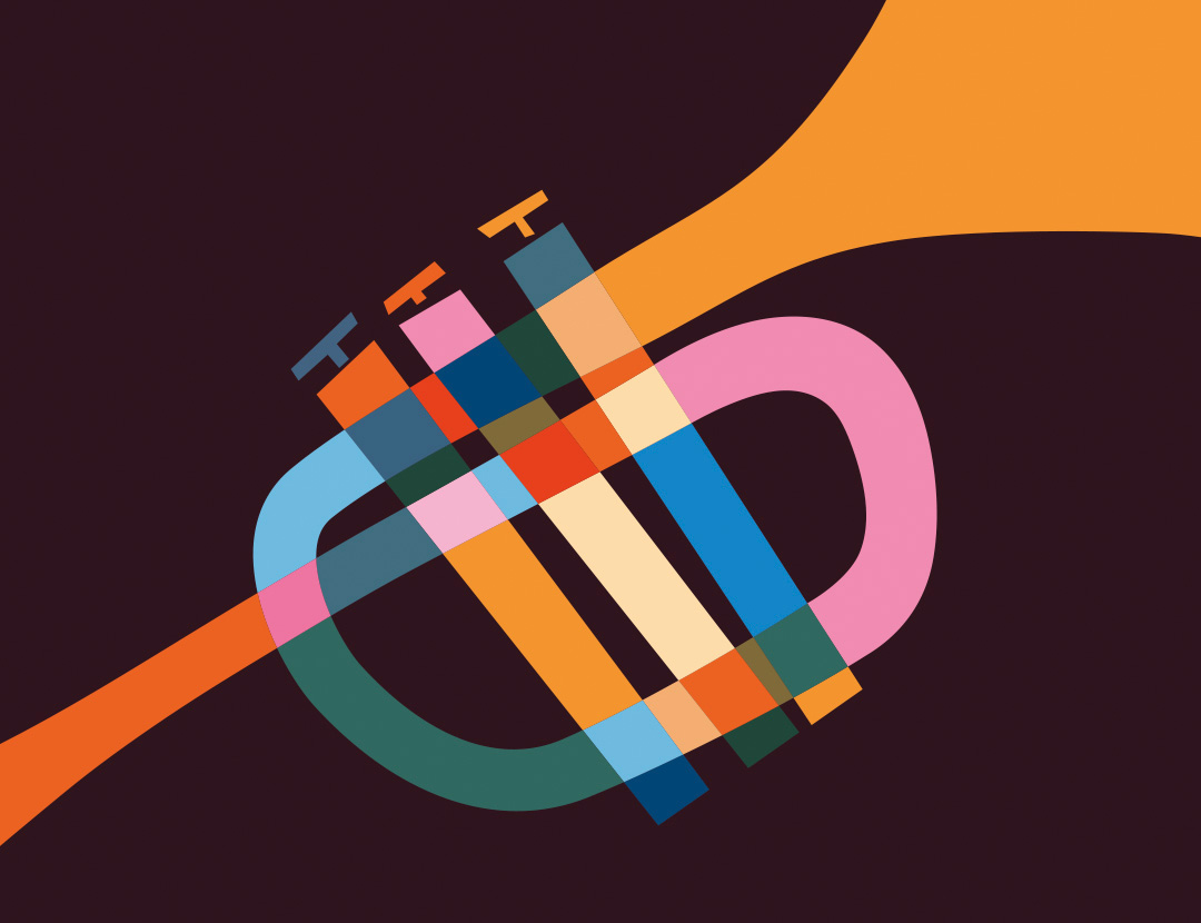 Trumpet illustration for Jazz Salon Festival 2019